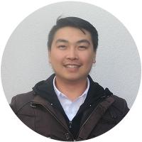 Staff member Dennis Nguyen at Ento