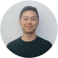 Staff member John Huang at Ento
