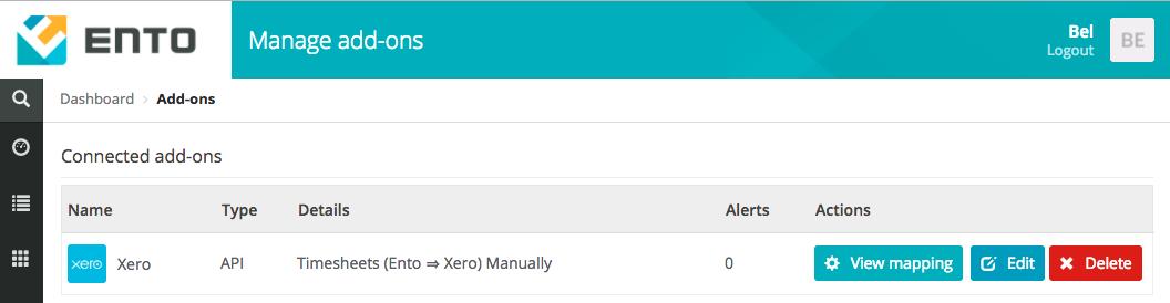Connection to Xero