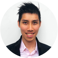 Staff member Gavin Chang at Ento