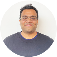 Staff member Vikram Prabhu at Ento